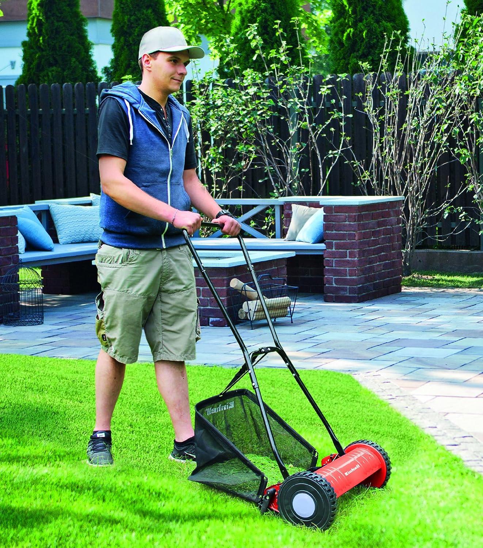 Einhell GC- HM 40 - Cortacesped manual (altura de corte 15-35 mm , ancho de corte 40cm, hasta 250m² de jardín, 27L de capacidad de bolsa) ...