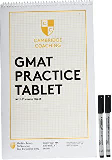 GMAT Practice Tablet With Formula Sheet Markers Prime Eligible