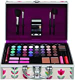 Eden Printed Beauty Case Filled with Cosmetics and Tools