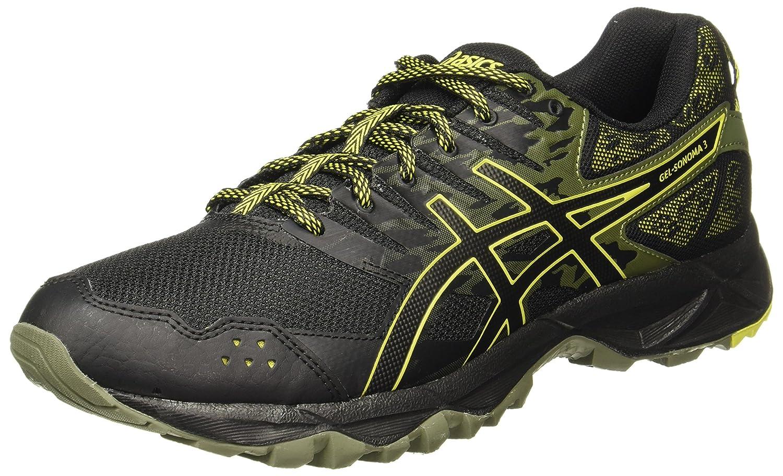 Asics Gel-Sonoma 3, Zapatillas de Running para Asfalto para Hombre 42 EU|Negro (Black/Sulphur Spring/Black 9089)
