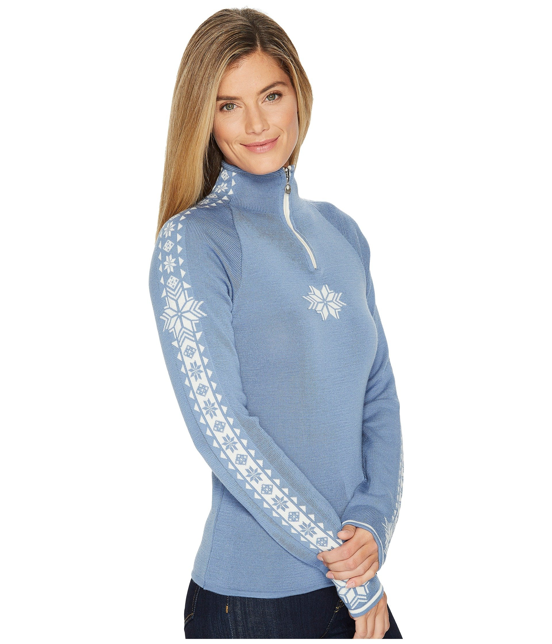 Dale of Norway Women's Geilo Feminine D-Blue Shadow/Off-White Small by Dale of Norway (Image #5)