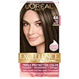 L'Oreal Paris Excellence Creme, 4A Dark Ash Brown, (Packaging May Vary)