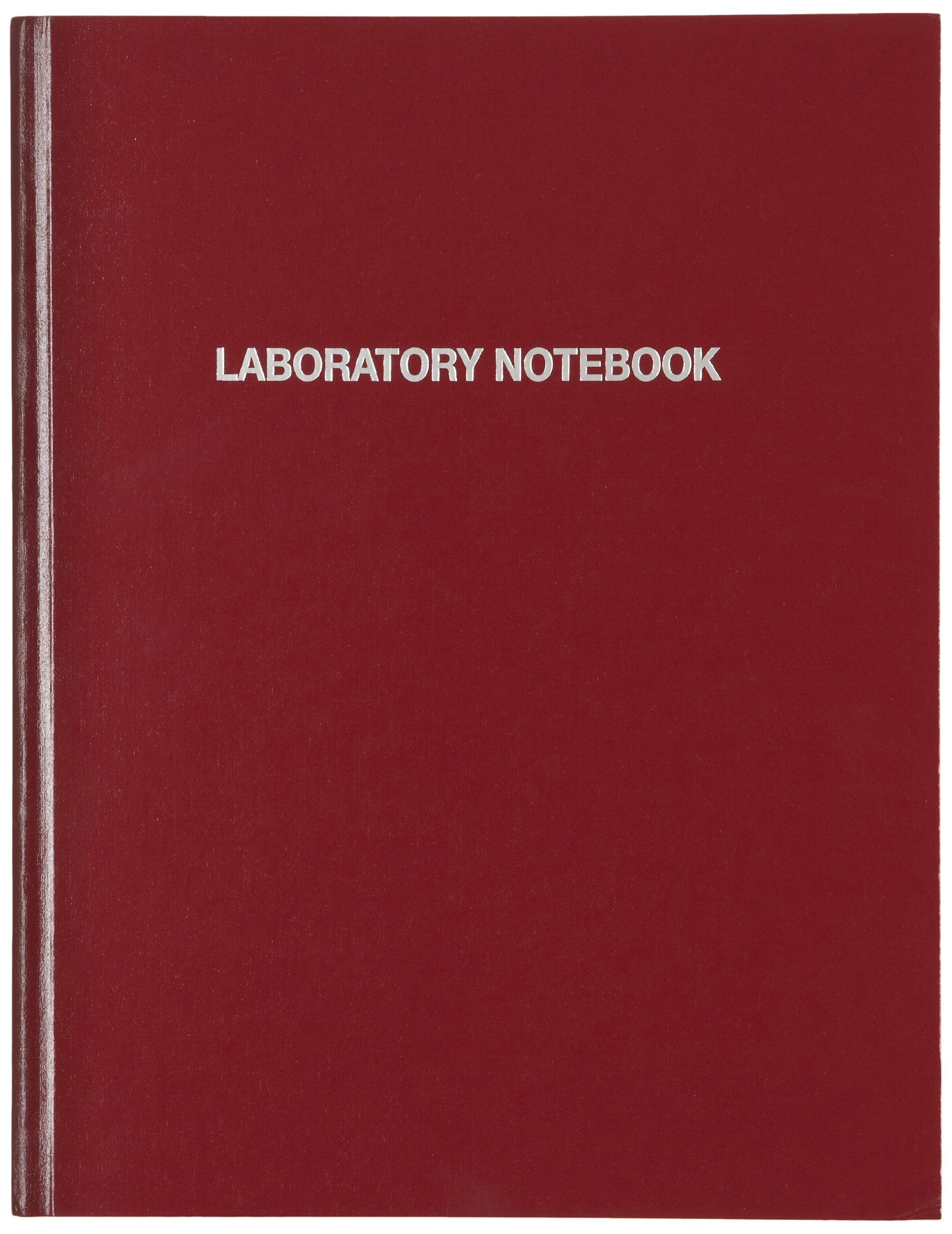 Nalgene 6501-1000 Polyethylene Laboratory Notebook with 1/4 Inch Acid-Free Paper, Burgundy PE Cover, 184 Pages, 11'' Length x 8-1/2'' Width (Case of 6)
