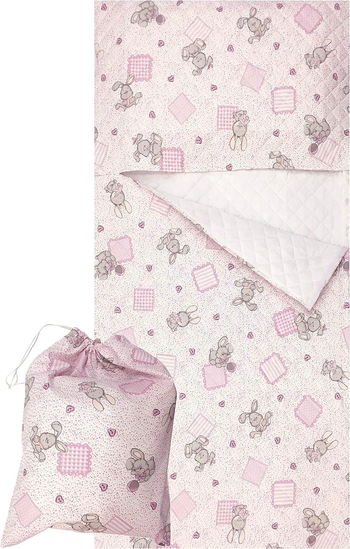 Tessuto trapuntato 100/% Cotone Prodotto in Italia Sacco Nanna Asilo per bimbo e bimba da 2 a 6 anni