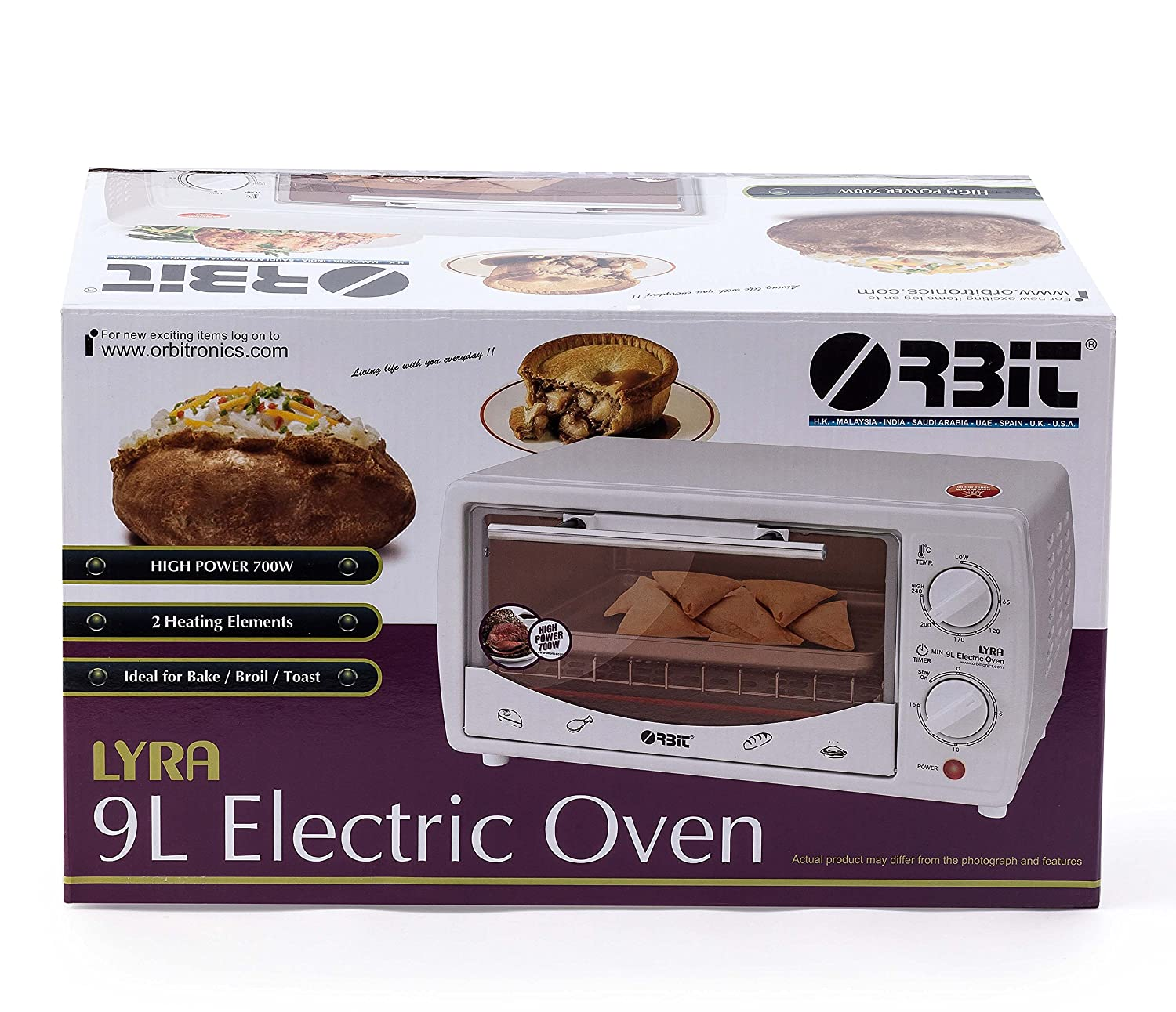 ORBIT Lyra Electric Oven Toaster and Grill (White)
