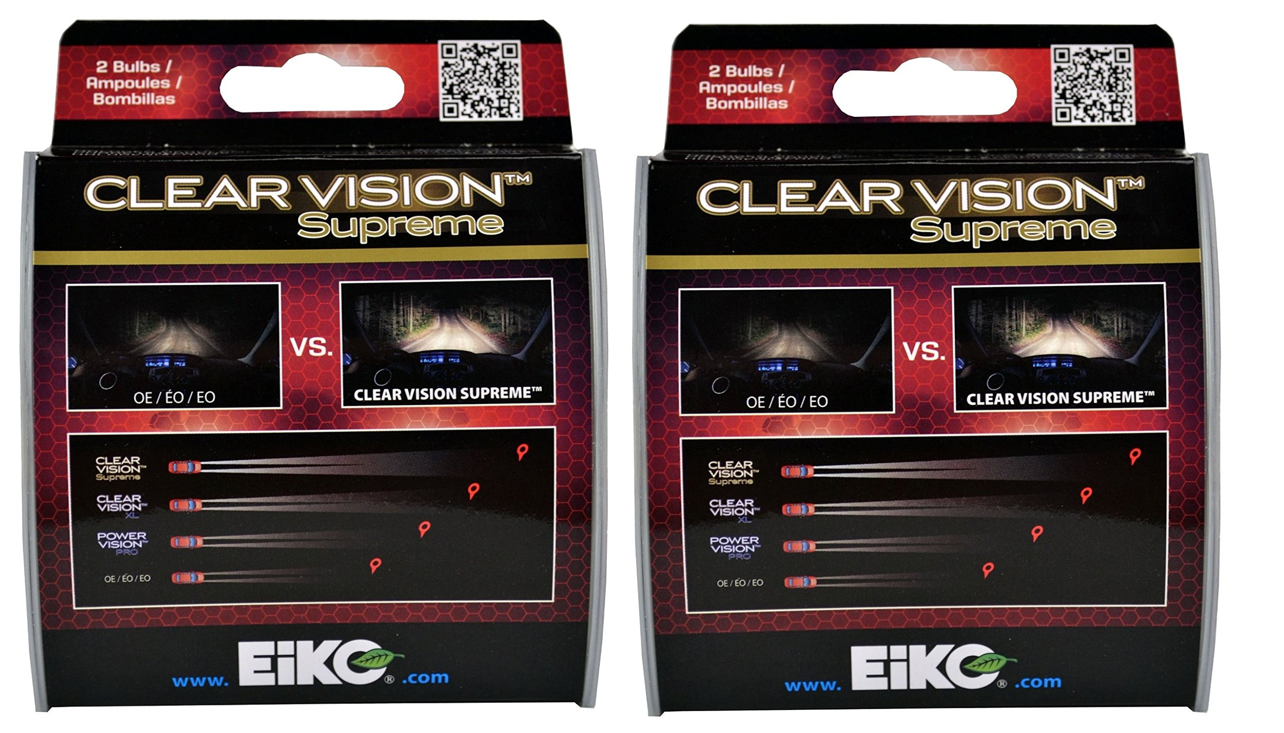H7 55W ClearVision Supreme 2PK (4 Bulbs) by Eiko