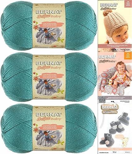 95e23fcfc Amazon.com  Bernat Softee Baby Yarn 3 Pack Bundle Includes 3 ...