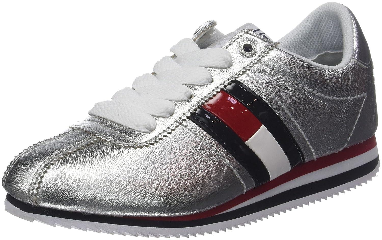 Tommy Jeans Retro Silver Sneaker, Zapatillas para Mujer 40 EU Plateado (Silver 000)