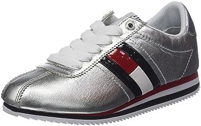 huge selection of cf26c 79b57 Hilfiger Denim Damen Tommy Jeans Retro Silver Sneaker