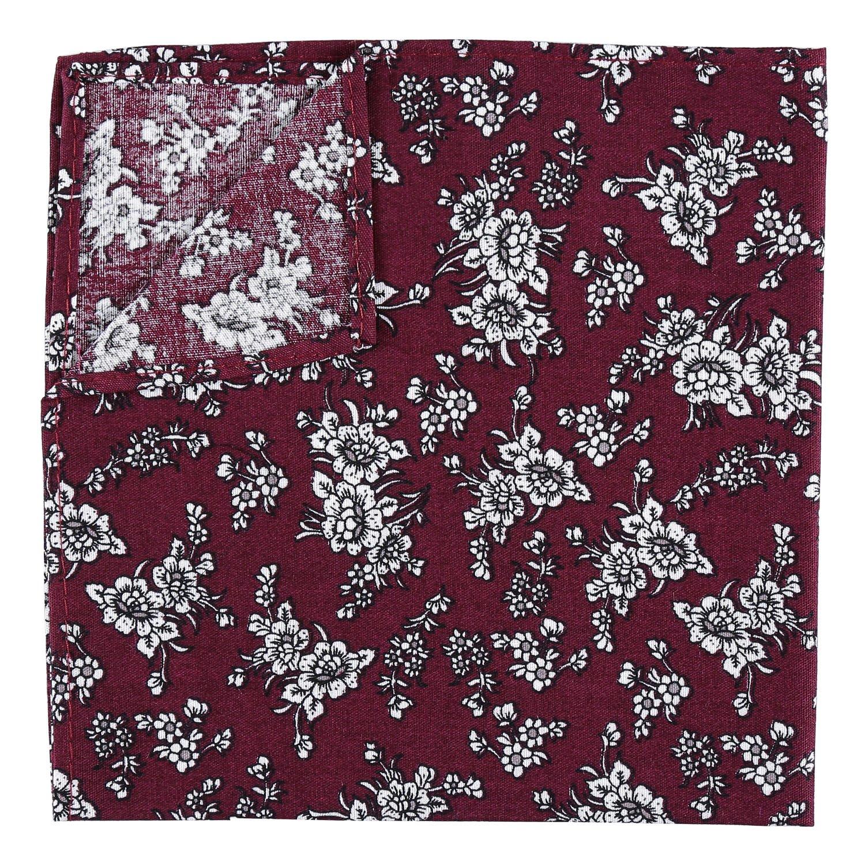 JA Cotton Floral Daphne Handkerchief Pocket Square