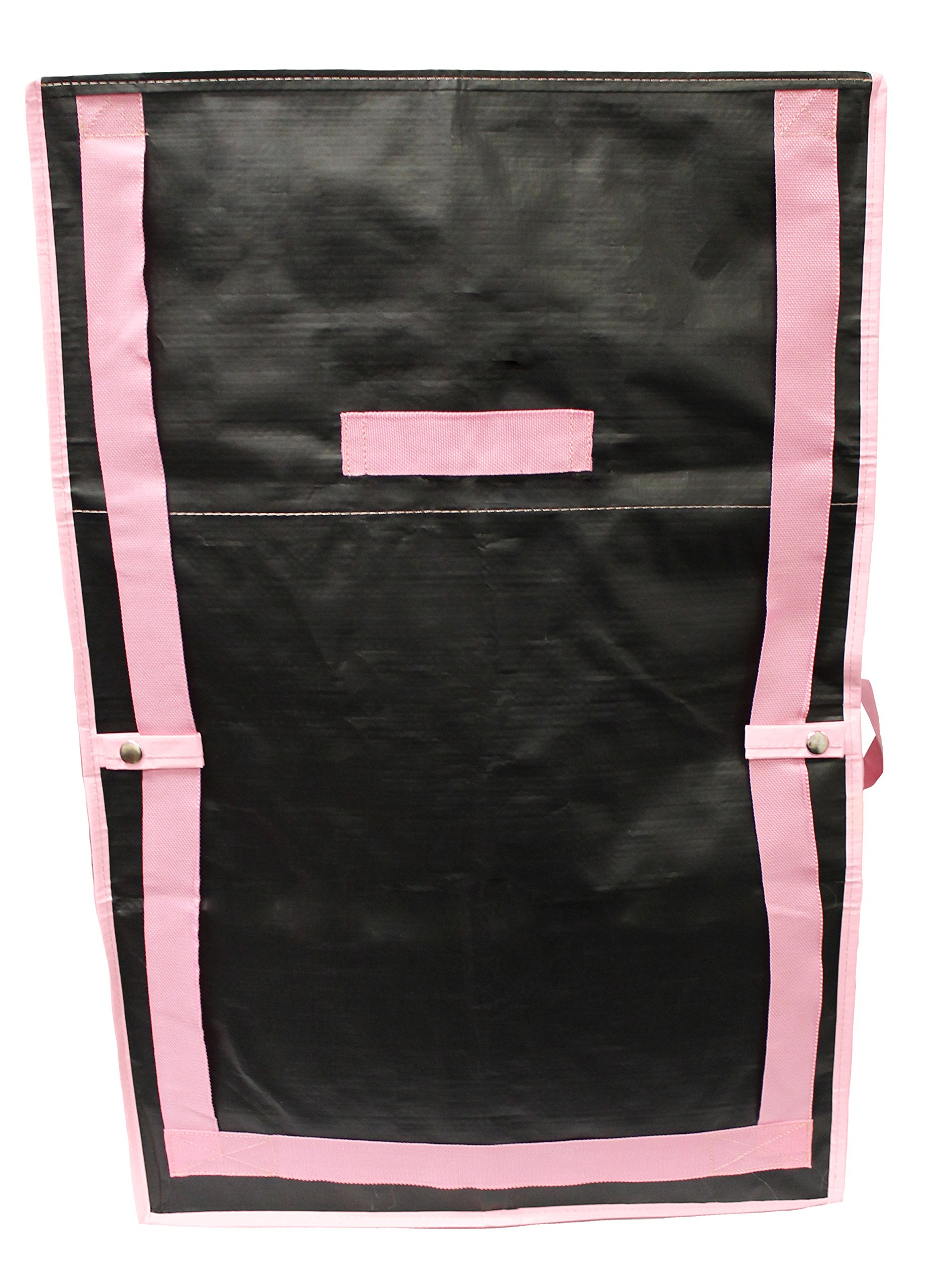 Earthwise Extra Large Reusable Storage Bags Totes Container Backpack Handles w/Zipper closure in Matte Black with Pink Trim Great for MOVING, Compatible with IKEA Frakta Carts (SET OF 4) by Earthwise (Image #7)