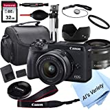 Canon EOS M6 Mark II Mirrorless Digital Camera with 15-45mm Lens + 32GB Card, Tripod, Case, and More (18pc Bundle)