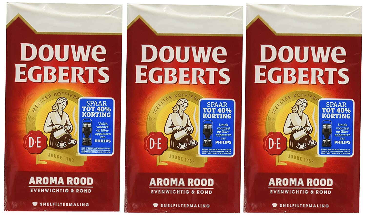 Douwe Egberts Douwe Egberts Aroma Rod Ground Coffee, 8.8000-Ounce Packages (Pack of 3)