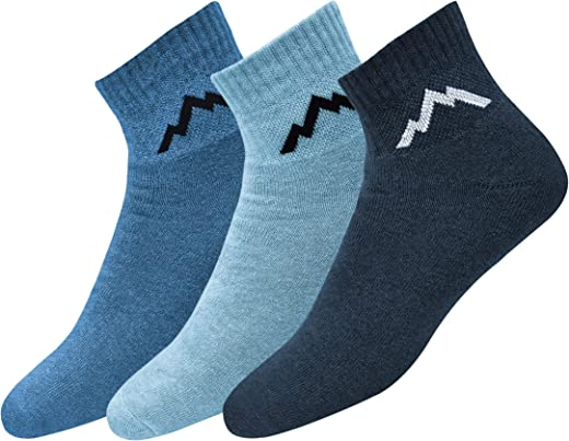 Ranger Sport Men's Heavy Duty Cotton Quarter Athletic Socks, Pack of 3