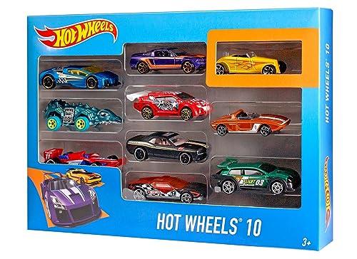 Hot Wheels 154213 Car, Multi-colour, Pack of 10