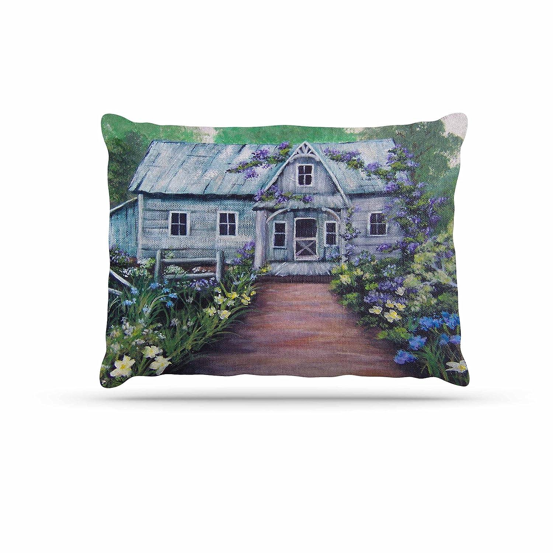 KESS InHouse Cyndi Steen Moonlit Waves bluee Purple Dog Bed, 30  x 40
