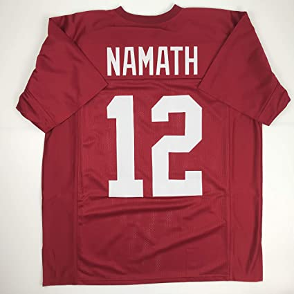 big sale 720dd 0cba7 Amazon.com: Unsigned Joe Namath Alabama Red Custom Stitched ...