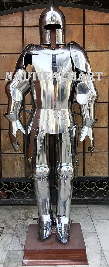 NAUTICALMART Disfraz de Armadura de Traje Completo para Halloween ...