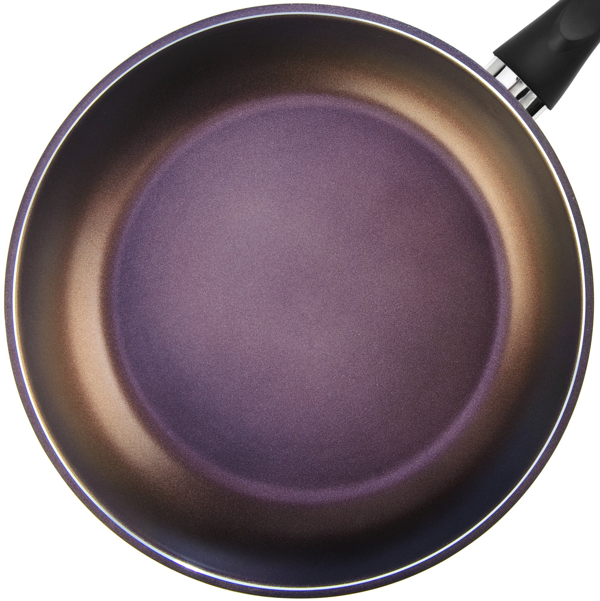 TeChef - Color Pan 12'' Frying Pan, Coated with DuPont Teflon Select - Colour Collection / Non-Stick Coating (PFOA Free) / (Aubergine Purple)