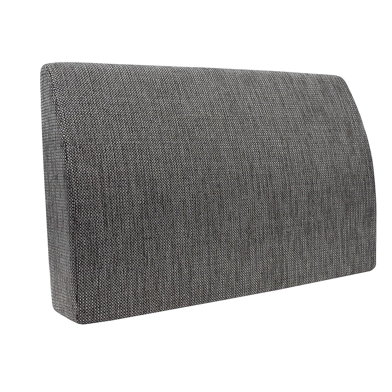 Formalind Respaldo para cama y sofá 70 X 45 X 15 CM//Cojines traseros para ver televisión y leer en diseño fino hecho de tela fina de tapicería (negro)