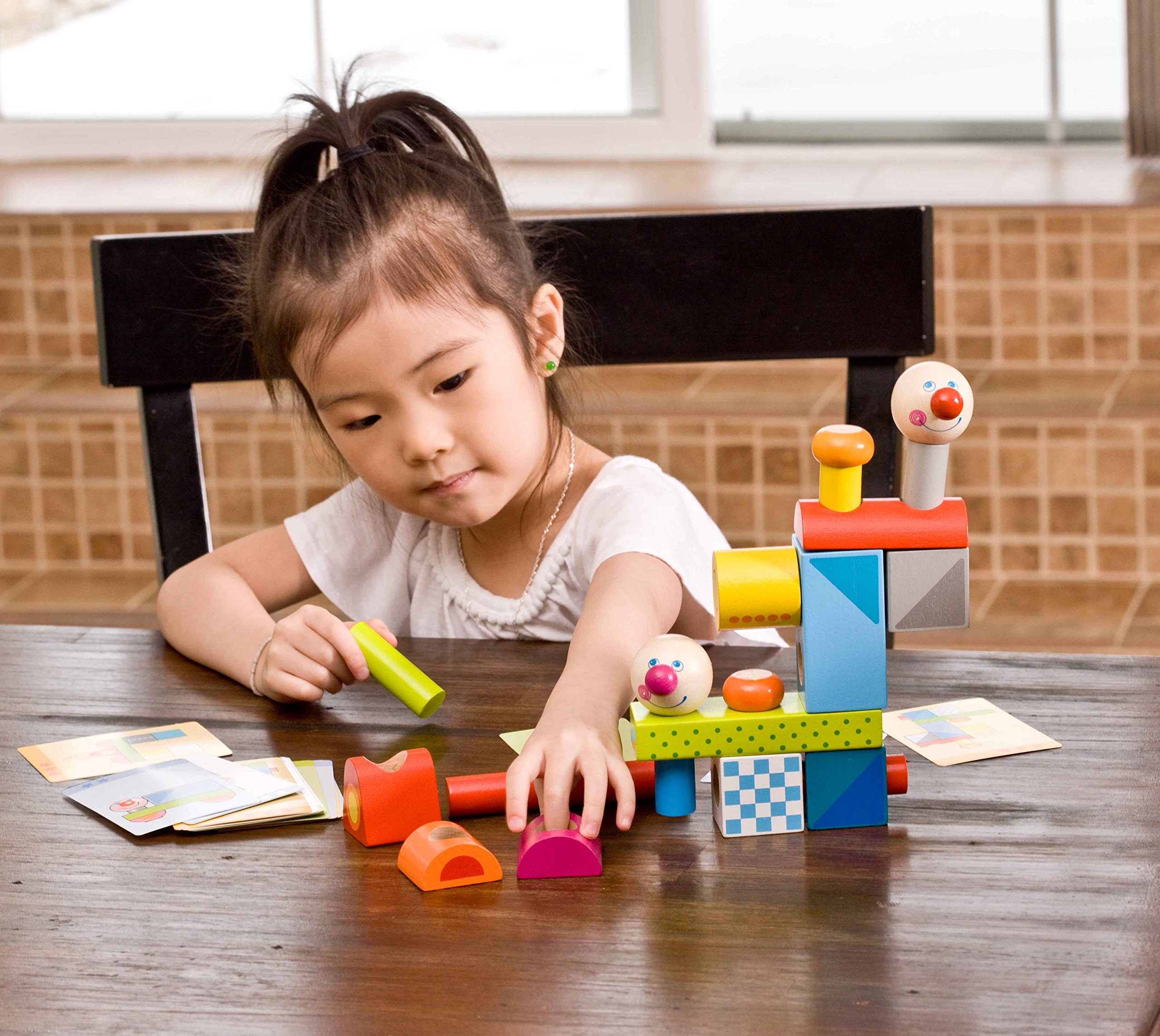 HABA Brain Builder Peg Set Building Blocks with Pattern Cards & 3 Levels of Difficulty for Ages 2+ by HABA (Image #3)