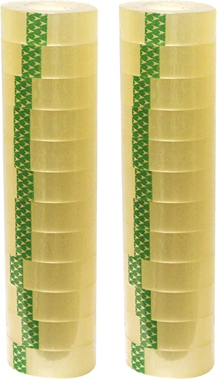"""36 yards// 1,296/""""INCHES 3 INCH CORE DOUBLE SIDED CLEAR TAPE,1/"""" WIDE"""