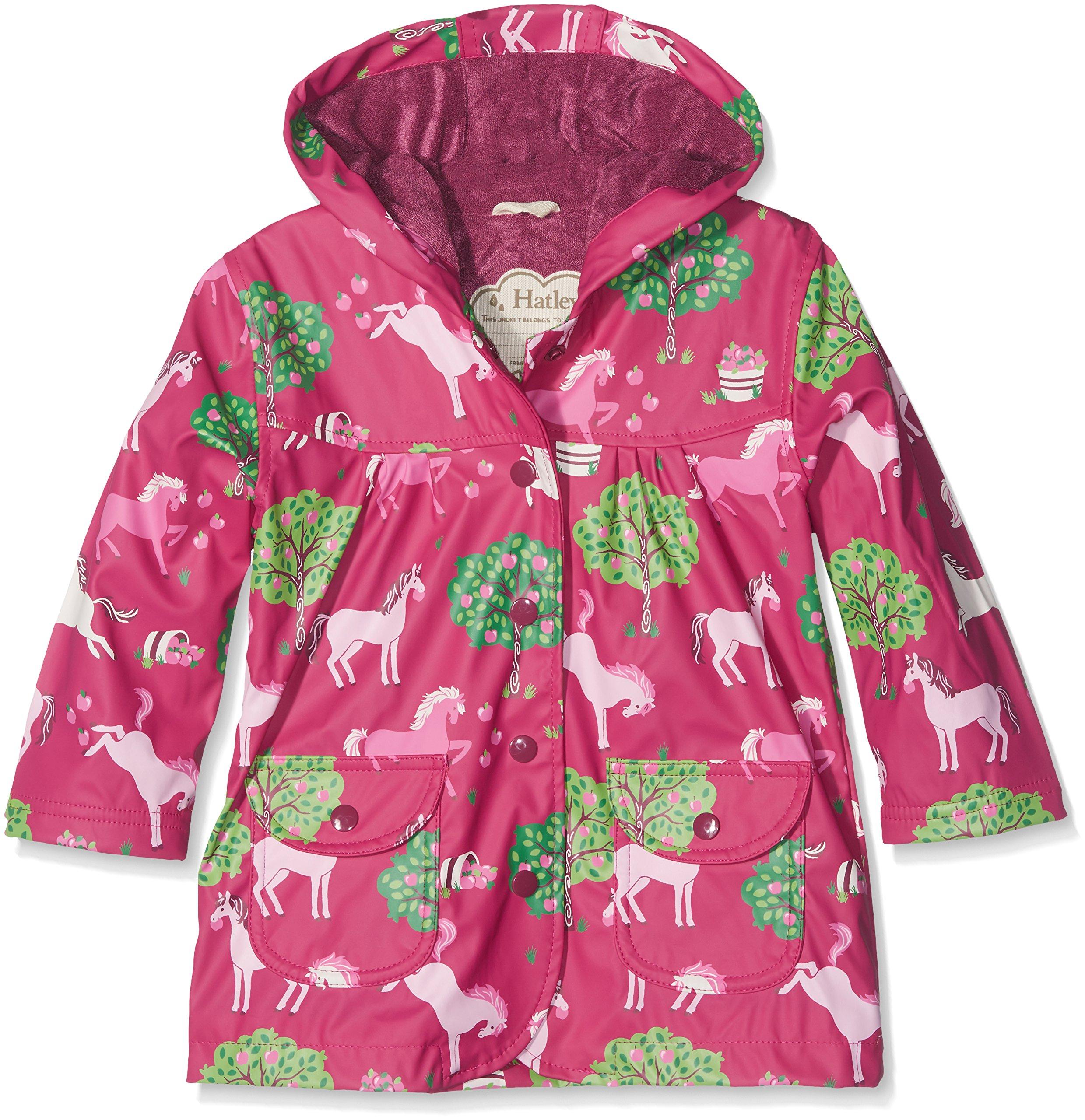 Hatley Big Girls' Printed Raincoats, Pony Orchard, 7