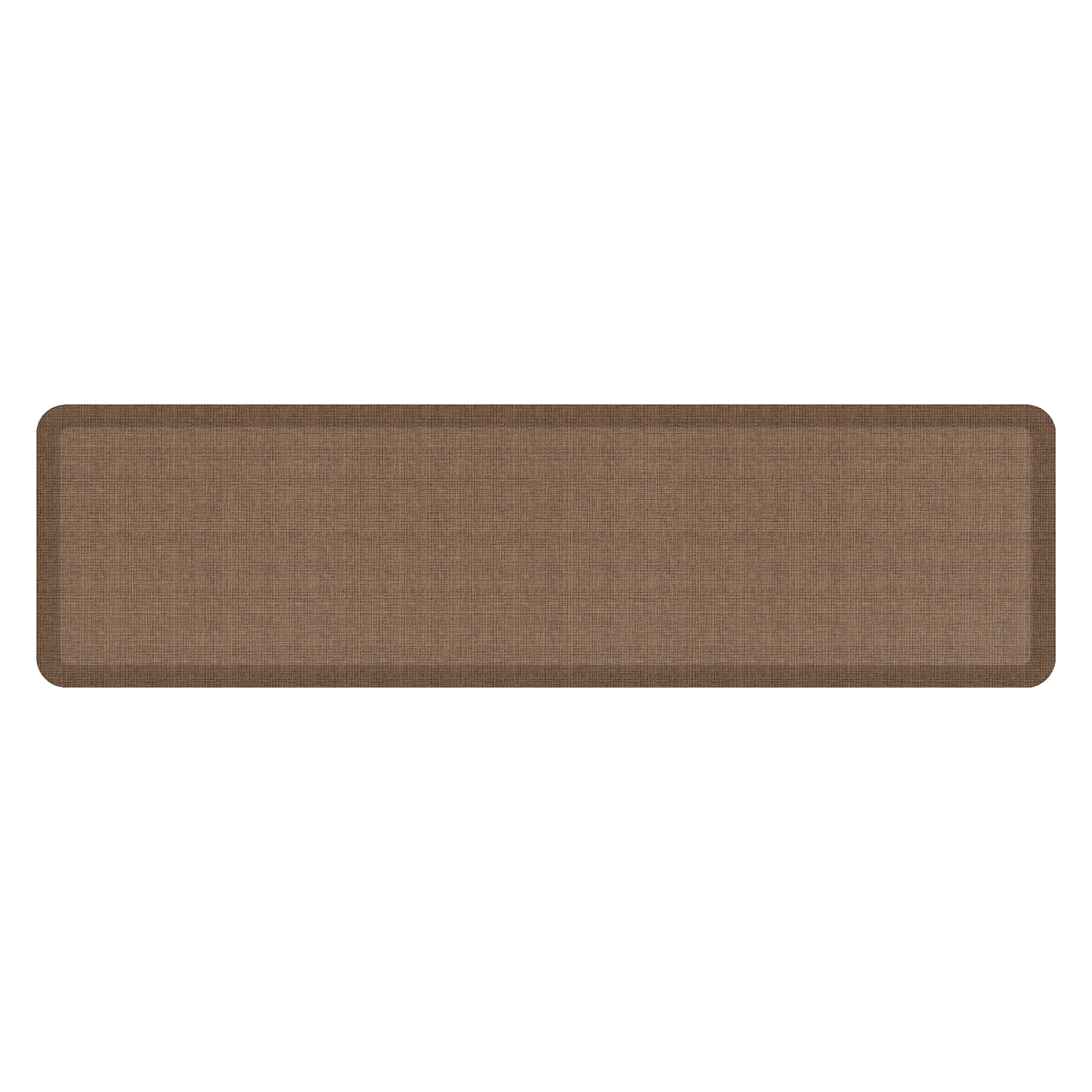 "NewLife by GelPro Anti-Fatigue Designer Comfort Kitchen Floor Mat, 20x72'', Tweed Light Walnut Stain Resistant Surface with 3/4"" Thick Ergo-foam Core for Health and Wellness"