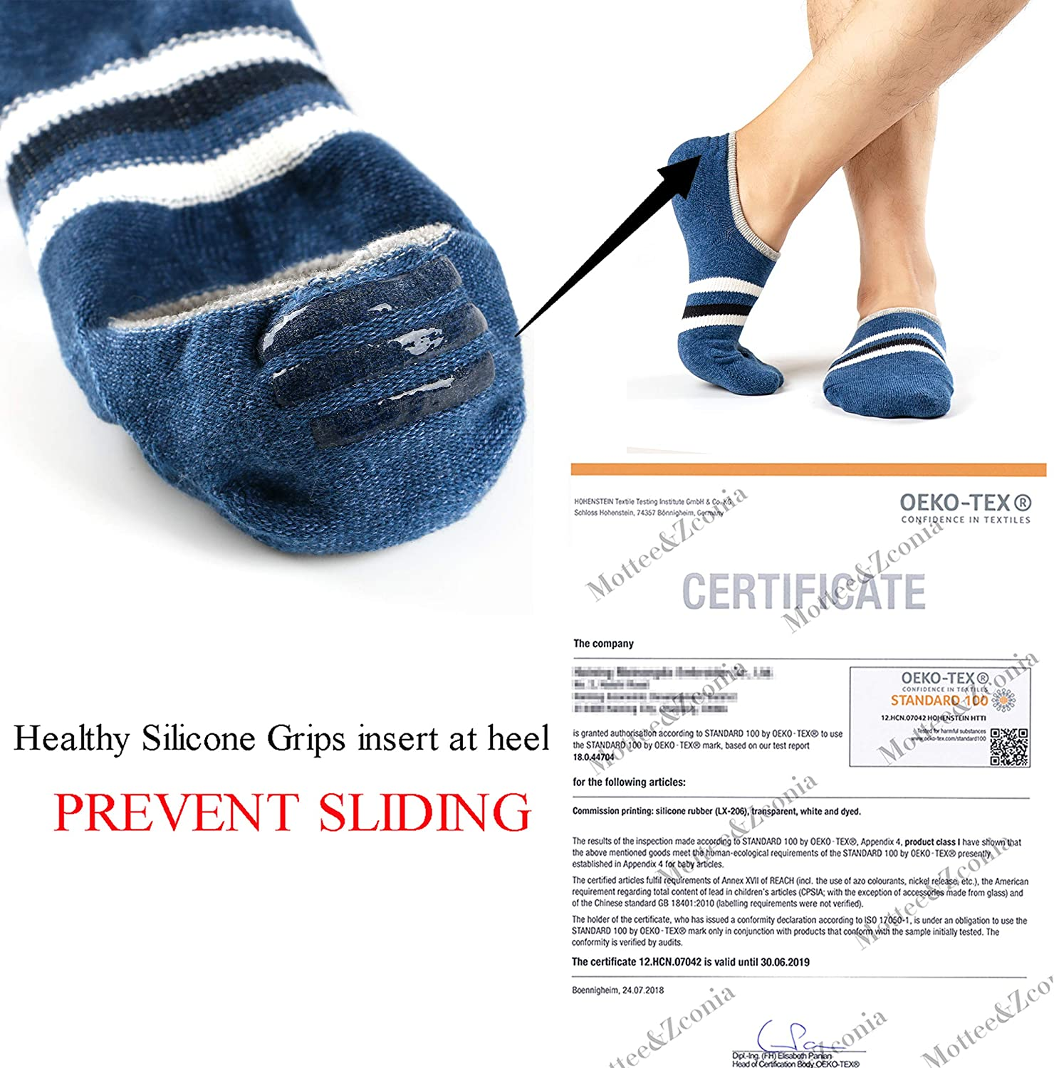 No Show Socks for Mens/Womens Low Cut Ankle Casual Invisible Cotton Non-Slip Durable Socks 5/6Pack