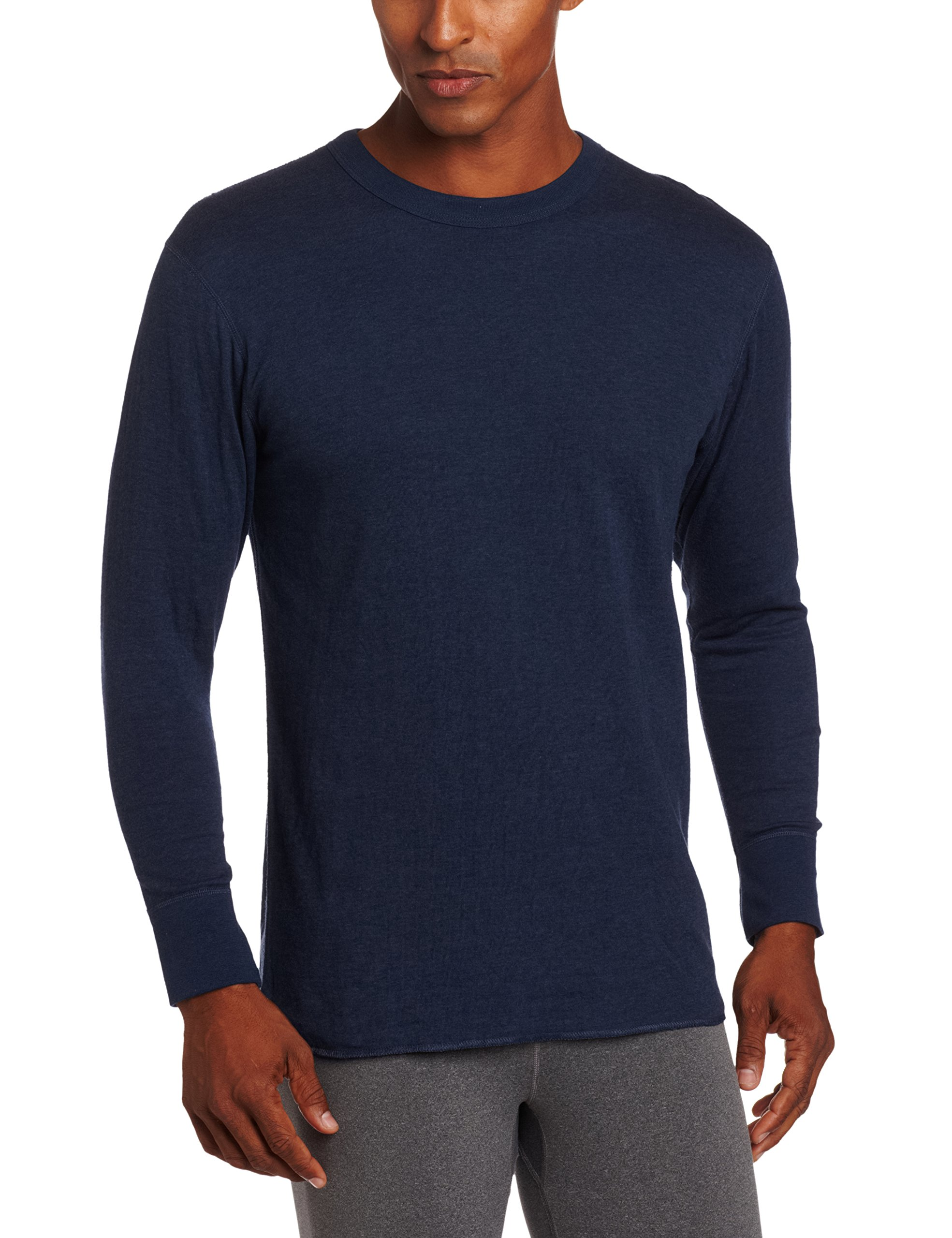Duofold Men's Mid Weight Double Layer Thermal Shirt, Blue Jean, Large by Duofold
