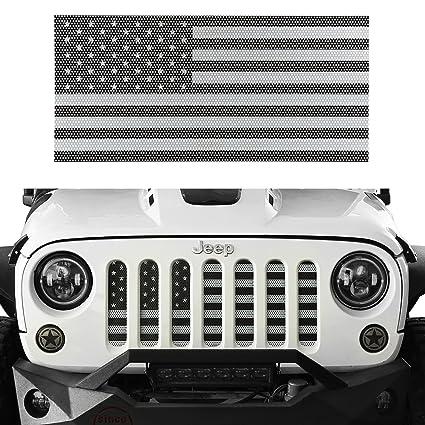 Amazon Com U Box Jeep Wrangler Front Grille Insert Black White