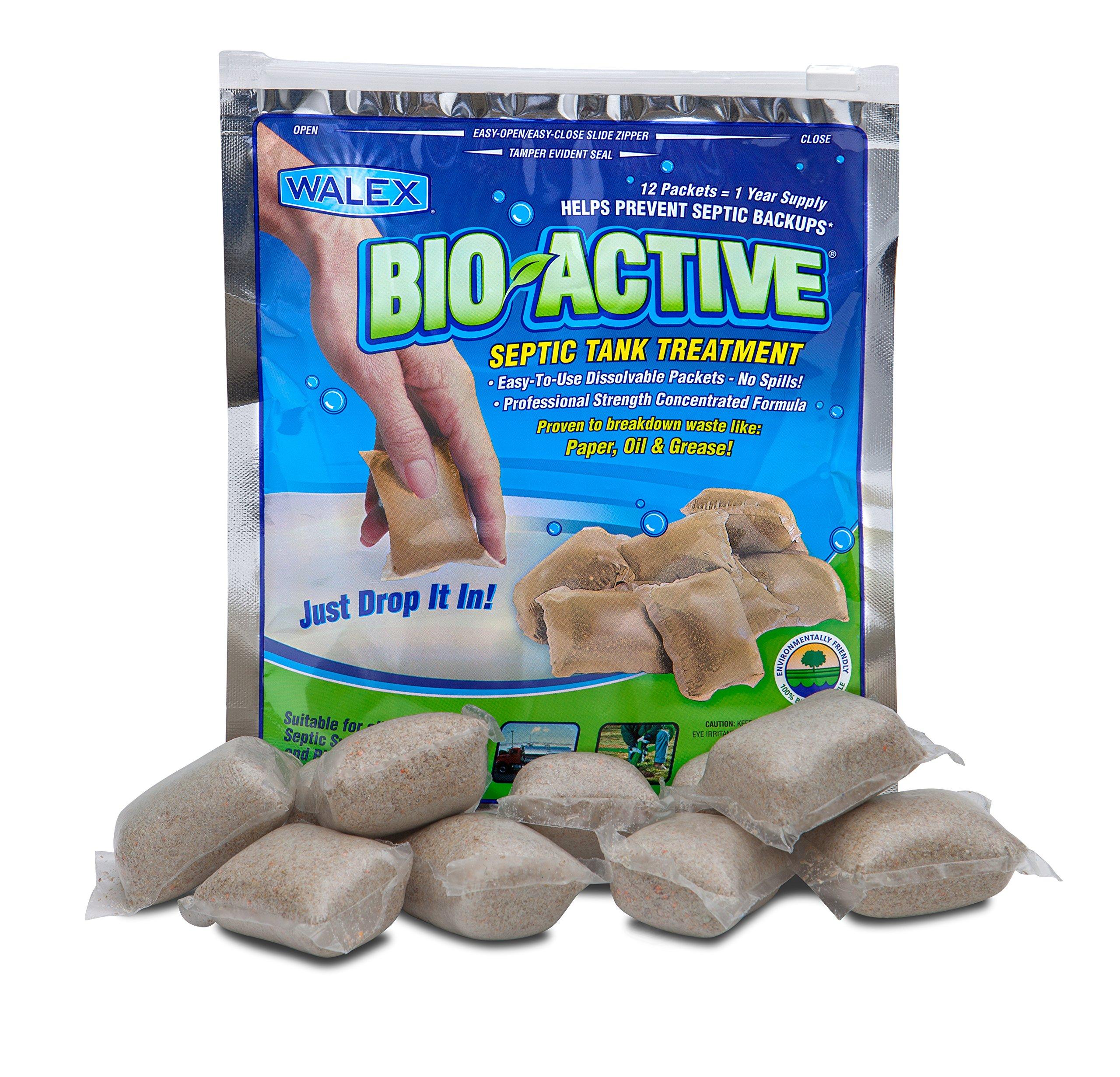 Walex BIO-31112 Bio-Active Septic Tank Treatment Drop-Ins (1 Year Supply) by Bio-Active