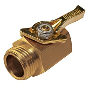 Dramm 114960 036434 4 Heavy-Duty Brass Shut-Off Valve, Single