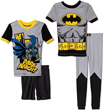 c3a2faebb Amazon.com  Komar Kids Boys 4 Piece Cotton Pajamas Sleepwear Set ...