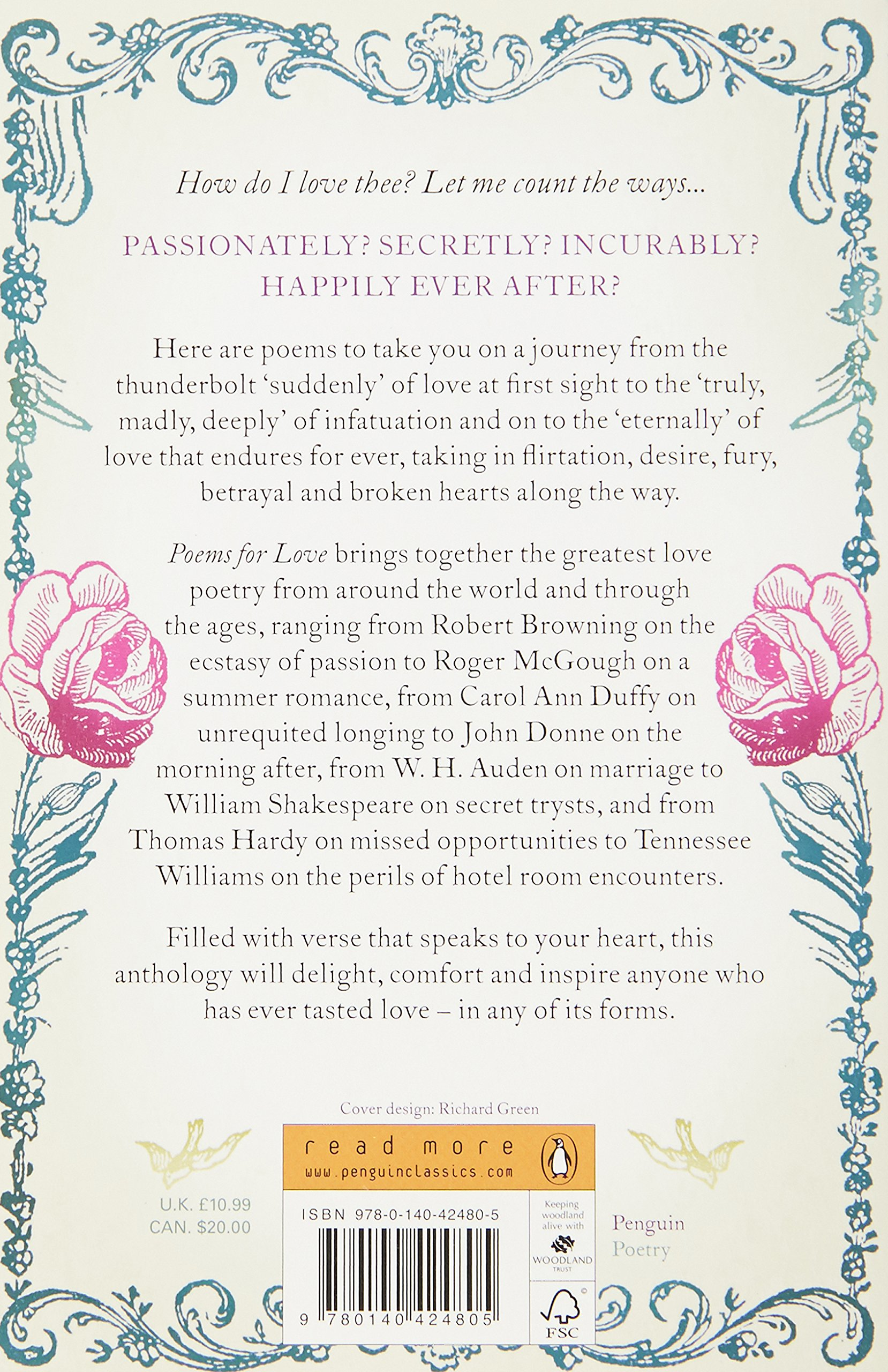 Penguin's Poems for Love (Penguin Classics): Amazon co uk