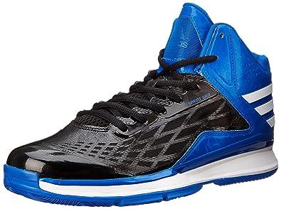 Genuine Men s adidas Transcend Basketball Beauty Black White Blue Shoes Coupons
