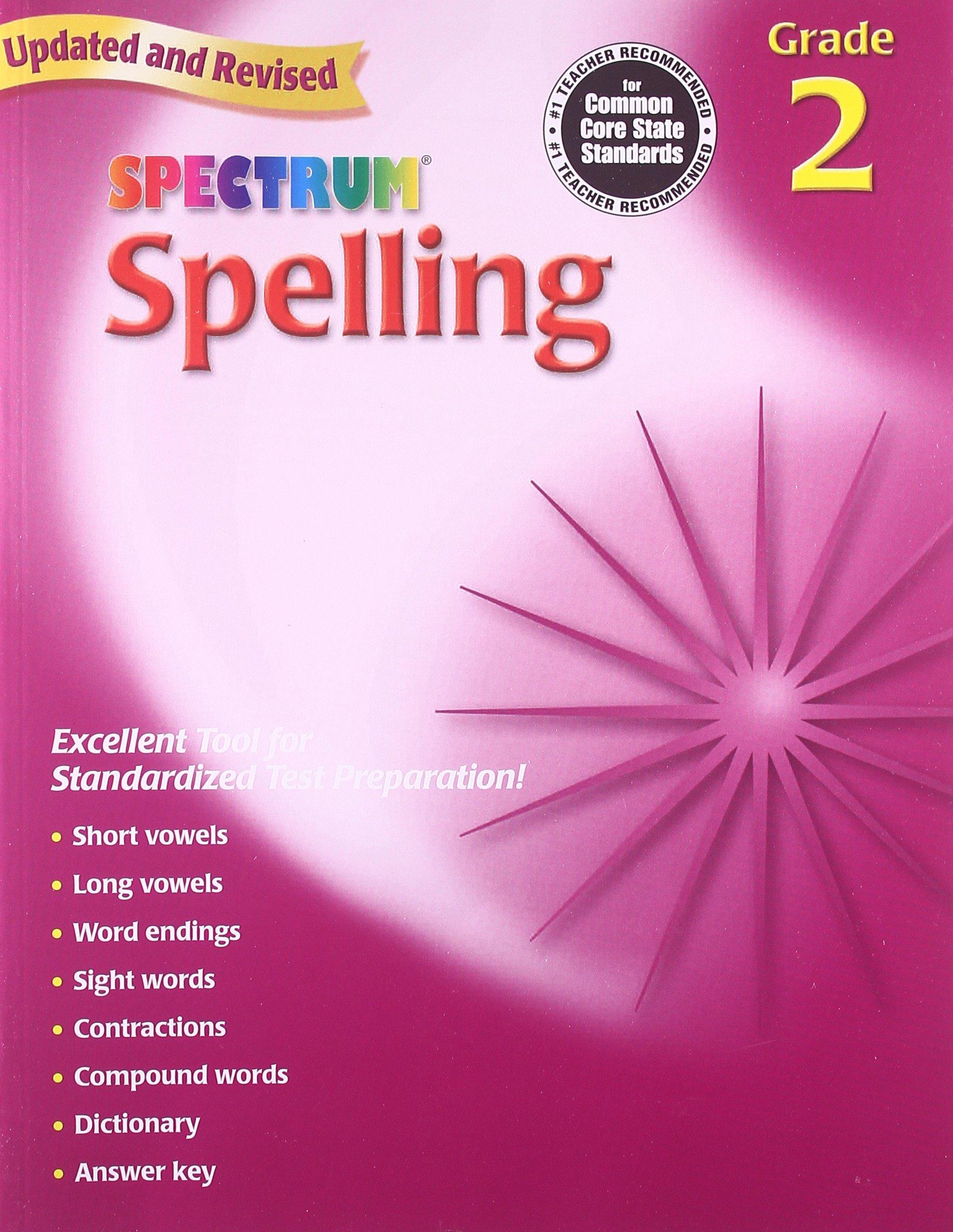 Amazon.com: Spectrum Spelling, Grade 2 (0087577929620): School ...
