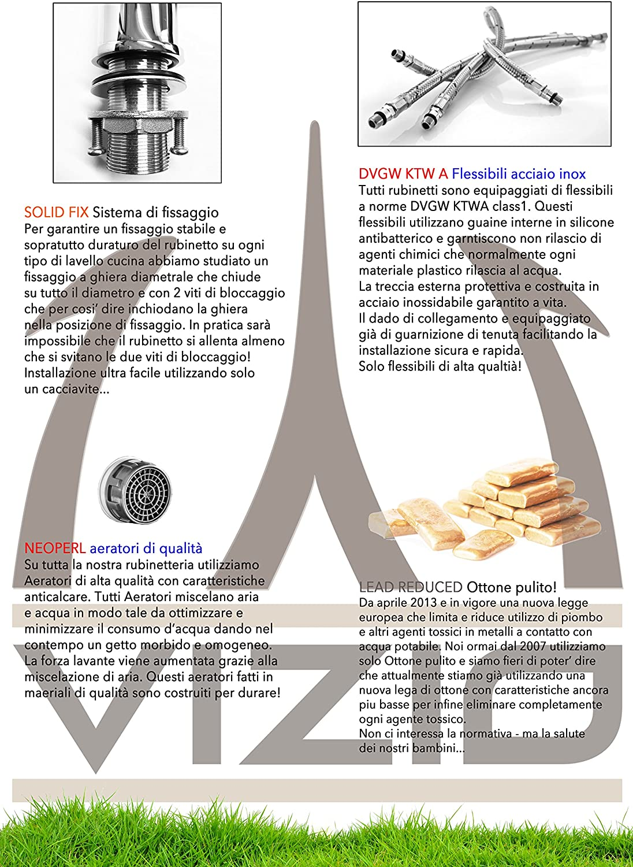 Grifo de cocina 3 vias para sistemas de filtro / purificador de ...
