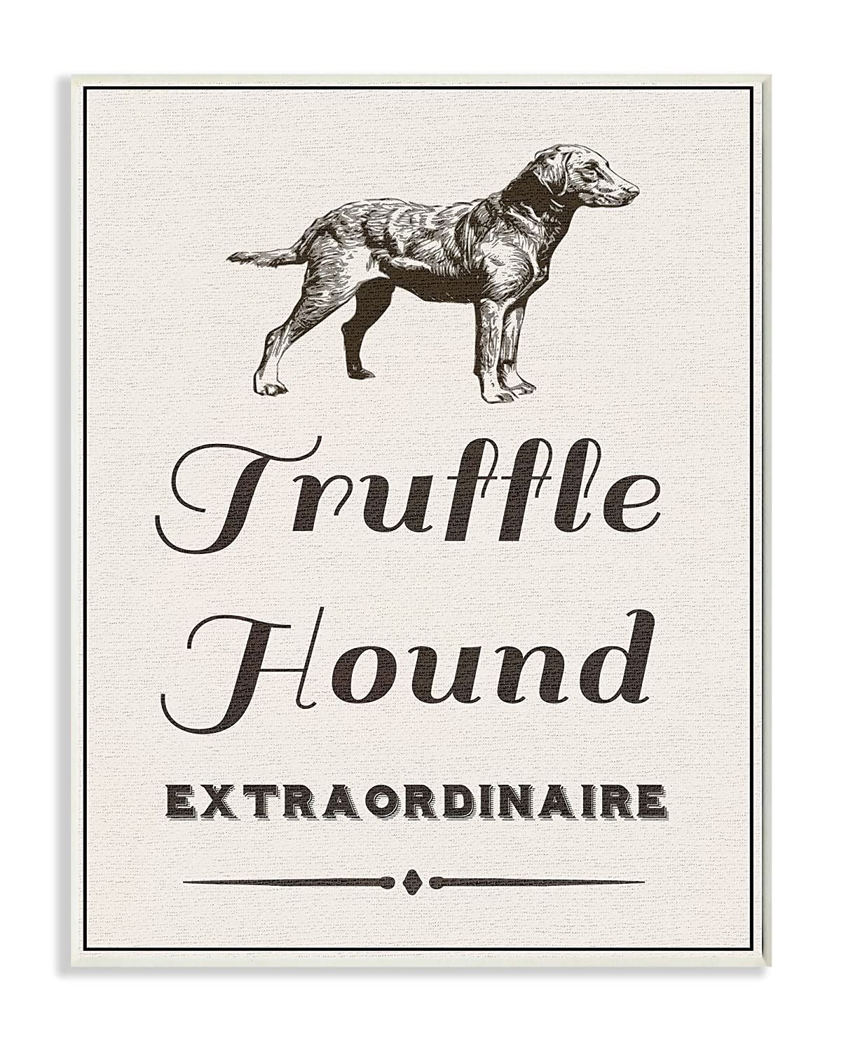 Proudly Made in USA Stupell Industries Truffle Hound Extraordinarie Oversized Stretched Canvas Wall Art
