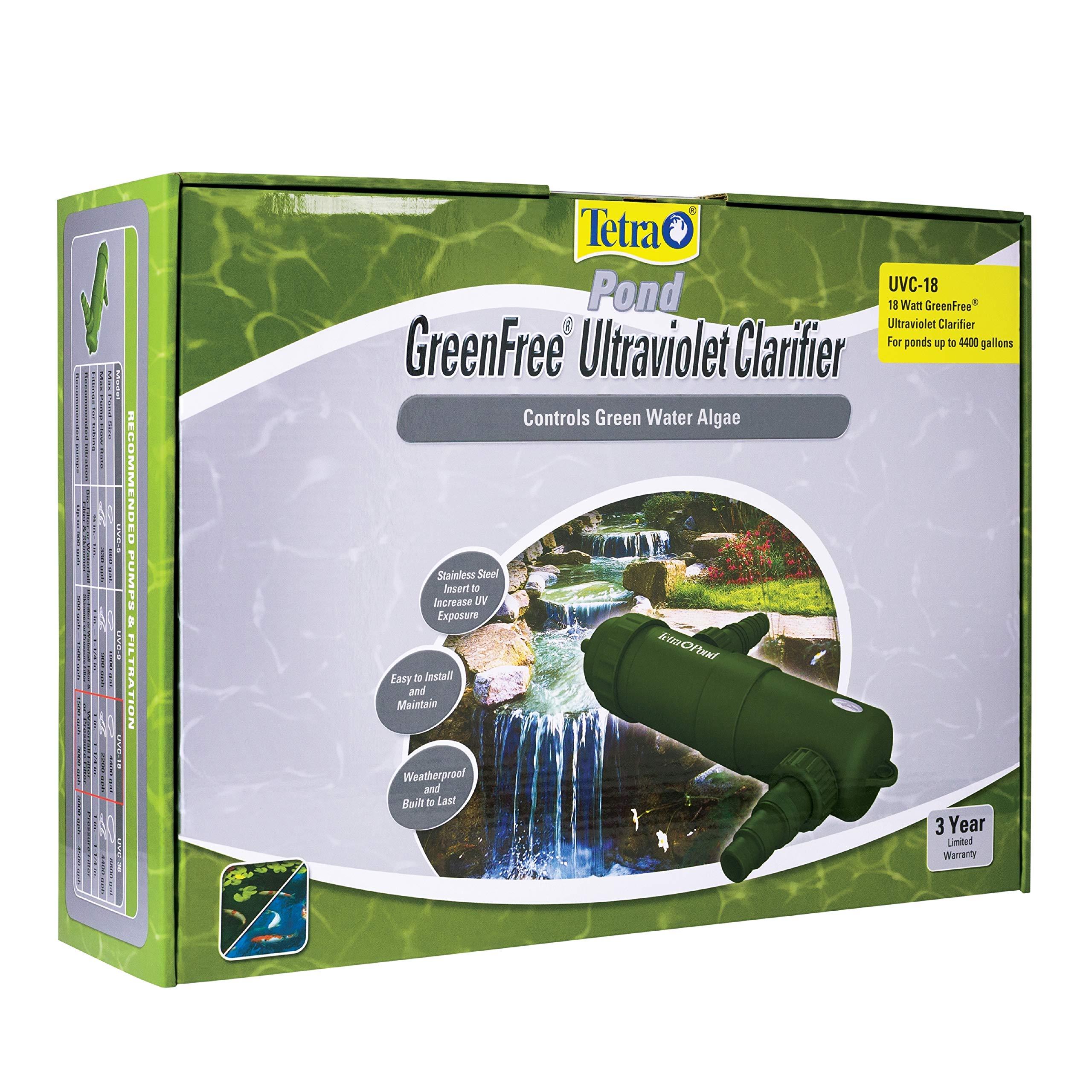 TetraPond UVC-18 GreenFree UV Clarifiers, Up To 4400 Gallons, 18-Watt