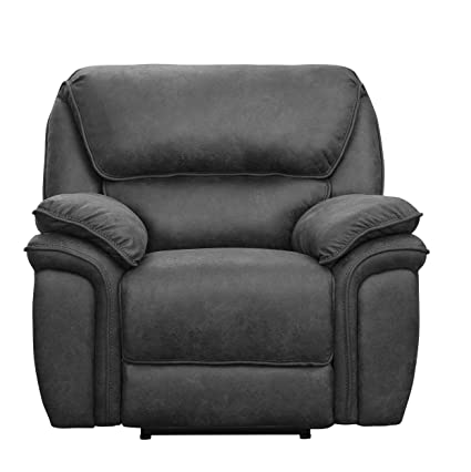 Homelegance Hadden Power Reclining Chair With USB Port, Gray