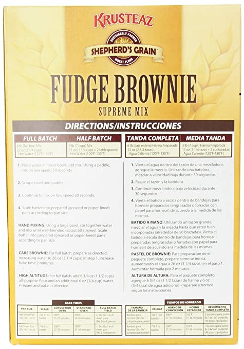 Amazon.com : Krusteaz Deluxe Brownie Mix, 96-Ounce : Grocery & Gourmet Food