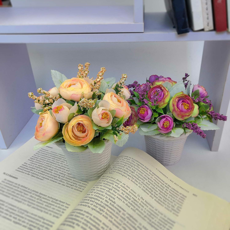 Greenylife ラタンポットの造花 Set of 2 HJ-PZ-PG0089-S-FU-2 B07GQWNJGR Collection 2