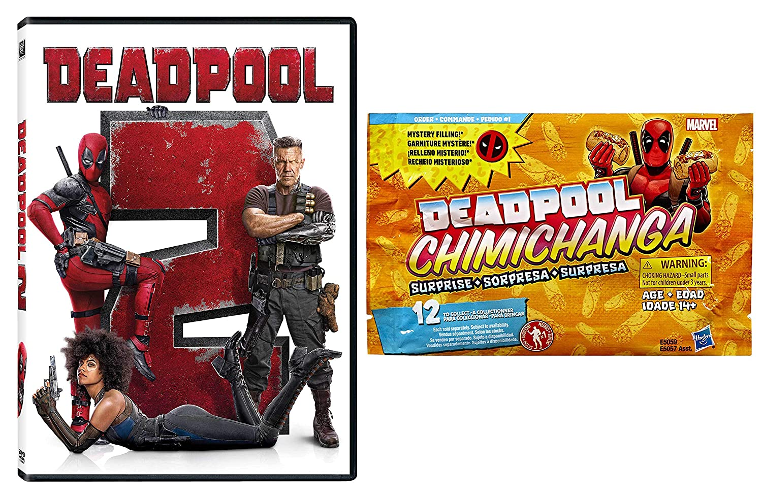 Who's Driving That Food Truck??? :Deadpool 2 + Deadpool Chimichanga Surprise with Mystery Filling Figure (2 Piece Movie/ Figure Bundle) Ryan Reynolds