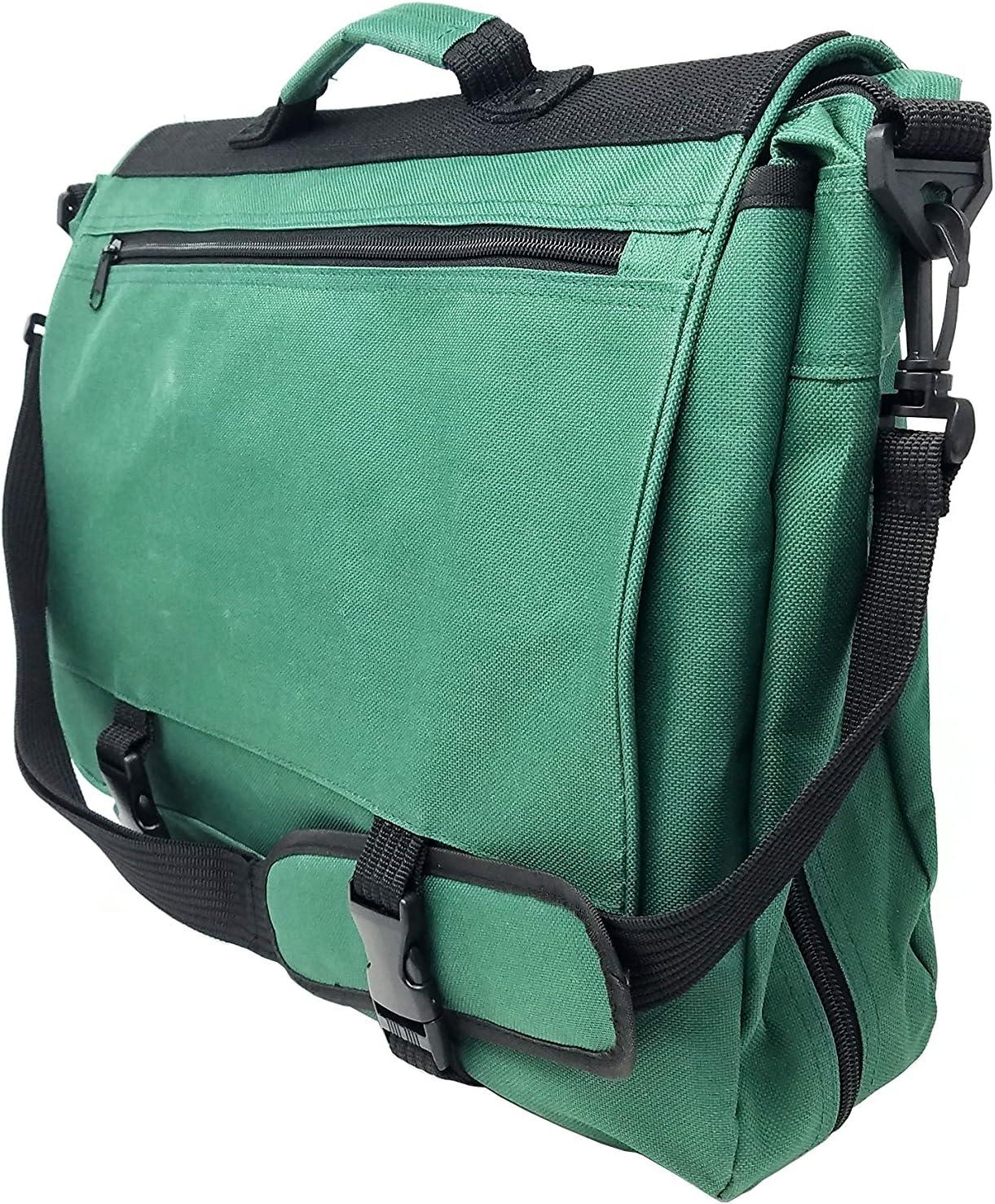 "ImpecGear 16.5"" 17"" Inches Expandable Laptop Case Briefcase Messenger Bag Computer Bag (PFG Dark Green 17"")"