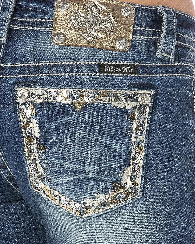 Amazon.com: Miss Me de la mujer Embellished bolsillo Rim ...