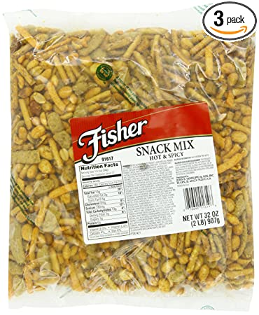 Fisher Hot & Spicy Mix, 2-Pound Packages (Pack of ...