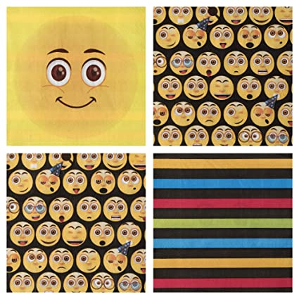 Amazon Party Napkins Pack Of 80 Emoji Theme Kids Birthday