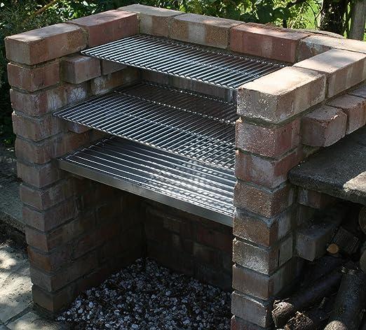 Kit de Barbacoa de ladrillo, de carbón, manual, resistente, 6 mm.: Amazon.es: Jardín