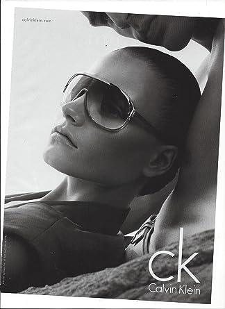 magazine advertisement for 2009 ck calvin klein glasses with anna